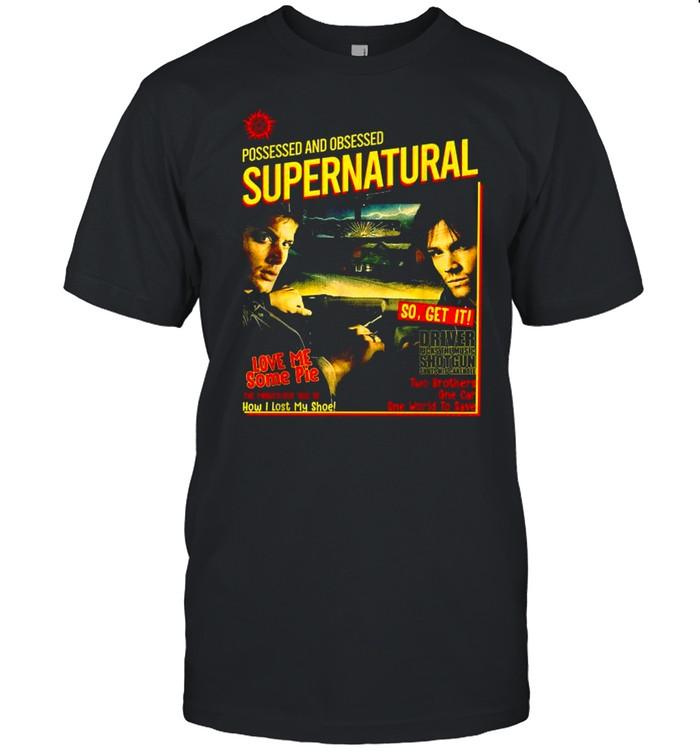 Possessed And Obsessed Supernatural Driver Picks The Music Shotgun shirt Classic Men's T-shirt