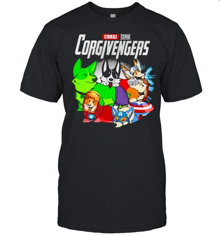 Pembroke welsh corgi corgi avengers avengers endgame shirt Classic Men's T-shirt