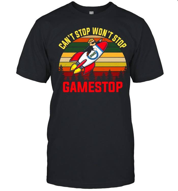 Cant Stop Wont Stop Gamestop Vintage shirt Classic Men's T-shirt