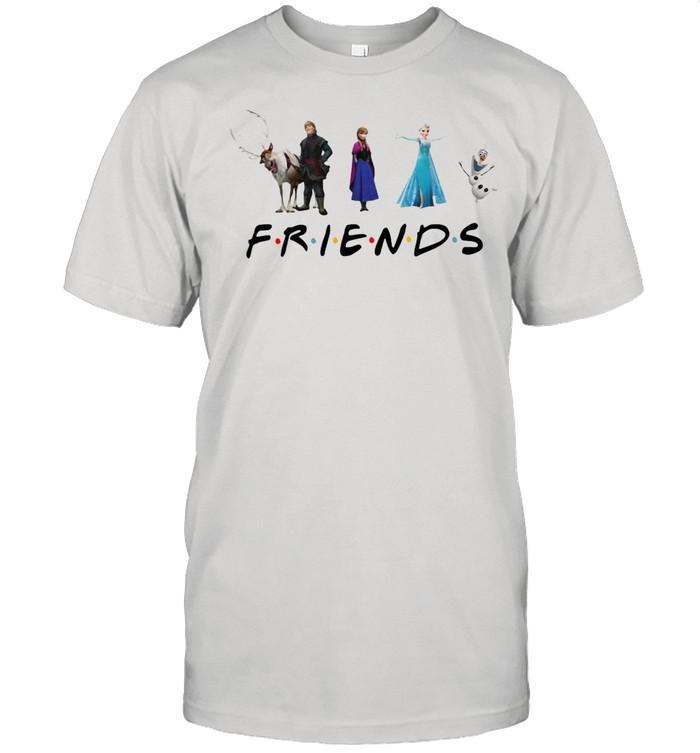 Friends Disney Frozen Elsa Olaf Anna shirt Classic Men's T-shirt