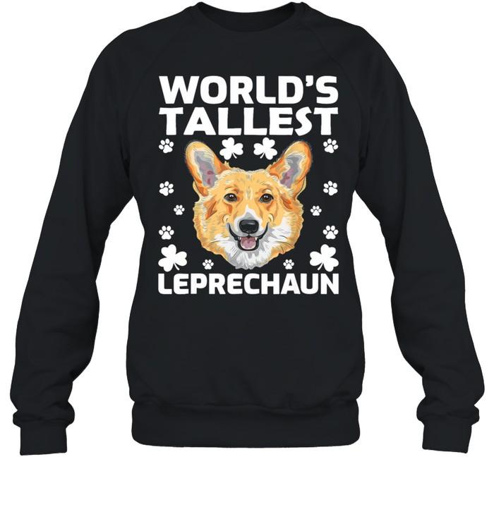 worlds tallest leprechaun corgi dog st patricks day shirt unisex sweatshirt