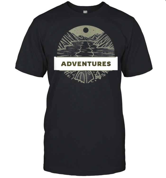 Adventure CAMPING NIGHT Vintage VANLIFE Retro Caravan shirt Classic Men's T-shirt