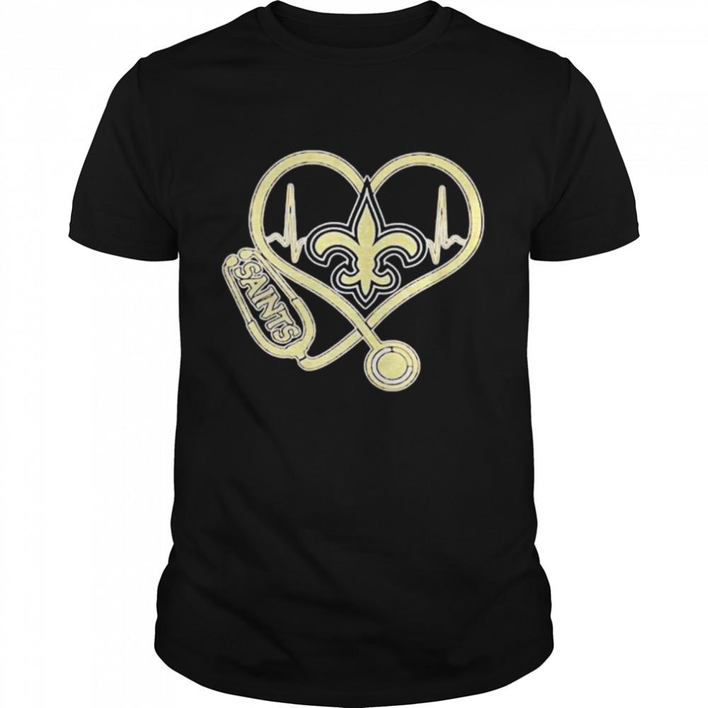 Nurse Heart Beat New Orleans Saints  Classic Men's T-shirt