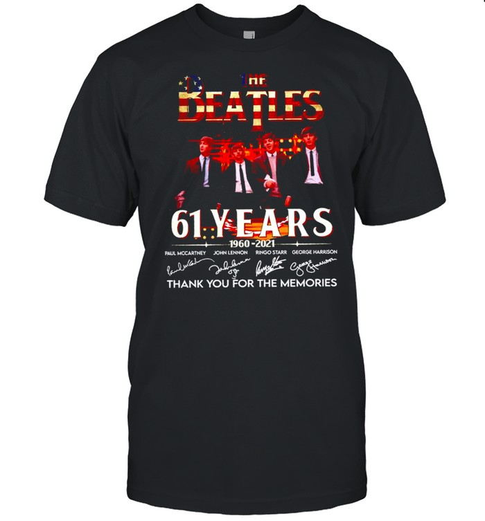 The Beatles 61 years 1960 2021 thank you for the memories signatures shirt Classic Men's T-shirt