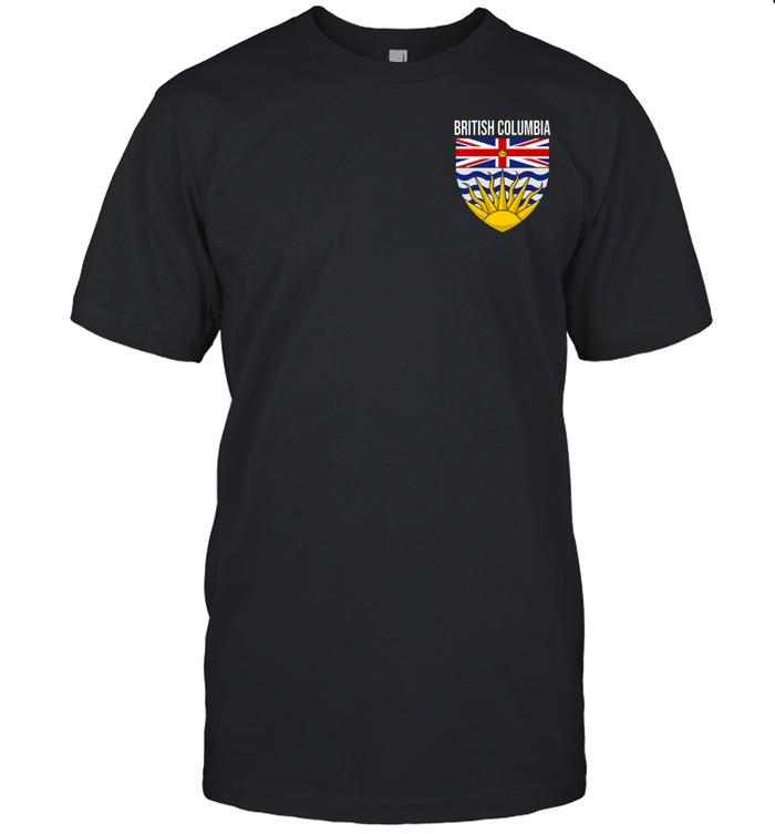 BRITISH COLUMBIA BC CANADA FLAG COAT OF ARMS VICTORIA PRIDE shirt Classic Men's T-shirt