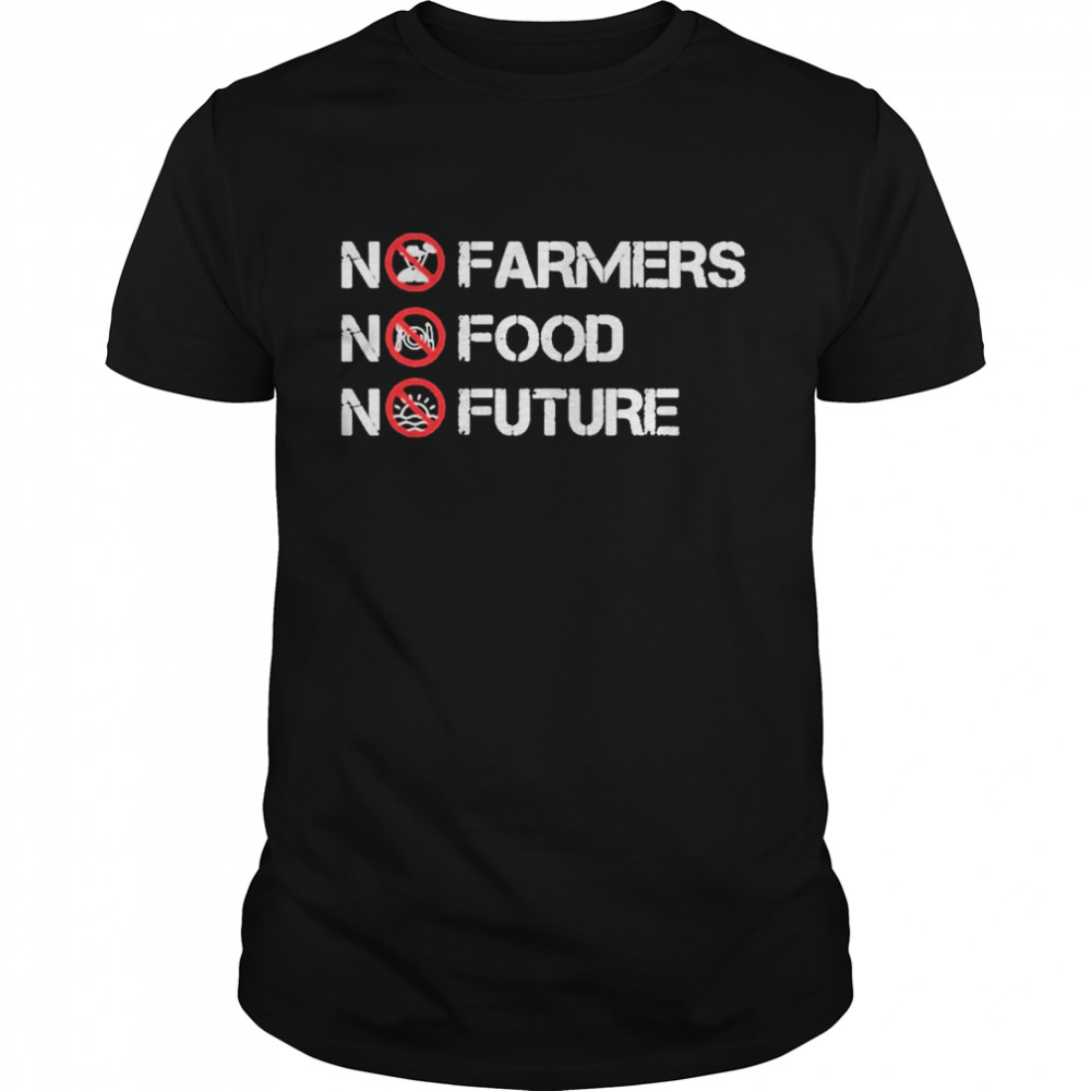 No farmers no food no future shirt Classic Men's T-shirt