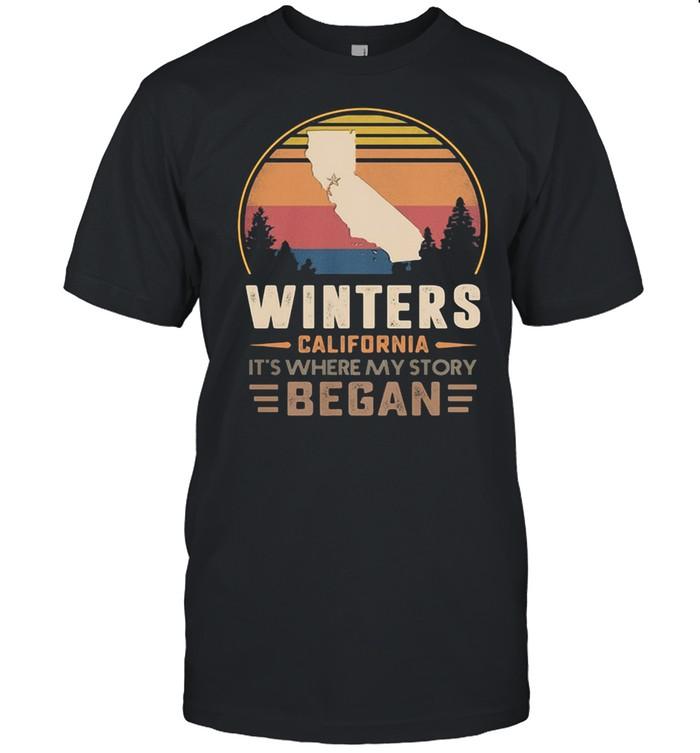 Winters California It's Where My Story Began Vintage  Classic Men's T-shirt