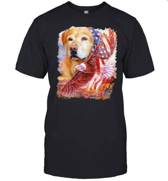 Eagle Labrador Retriever American Wings Happy 4th Of July  Classic Men's T-shirt