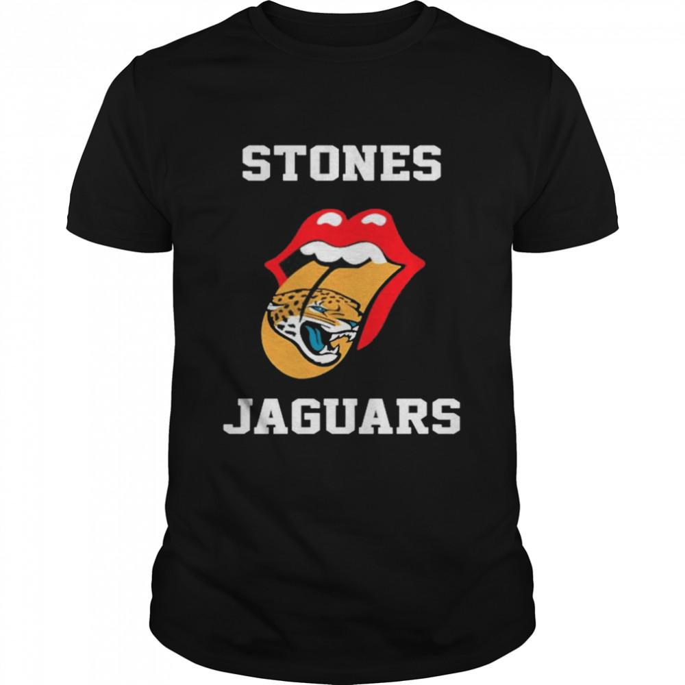 The Rolling Stones Jacksonville Jaguars lips shirt Classic Men's T-shirt
