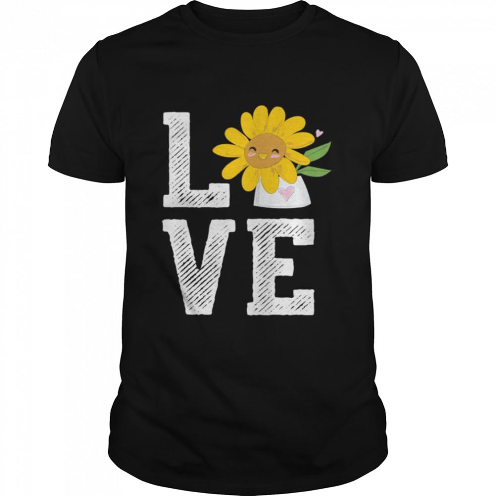 Sunflower Love Florist Flower Keeper Floral Designer  Classic Men's T-shirt