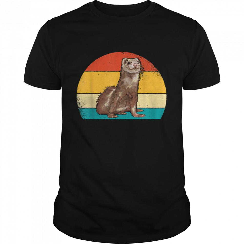 Vintage Sunset Ferret I Love My Ferret  Classic Men's T-shirt