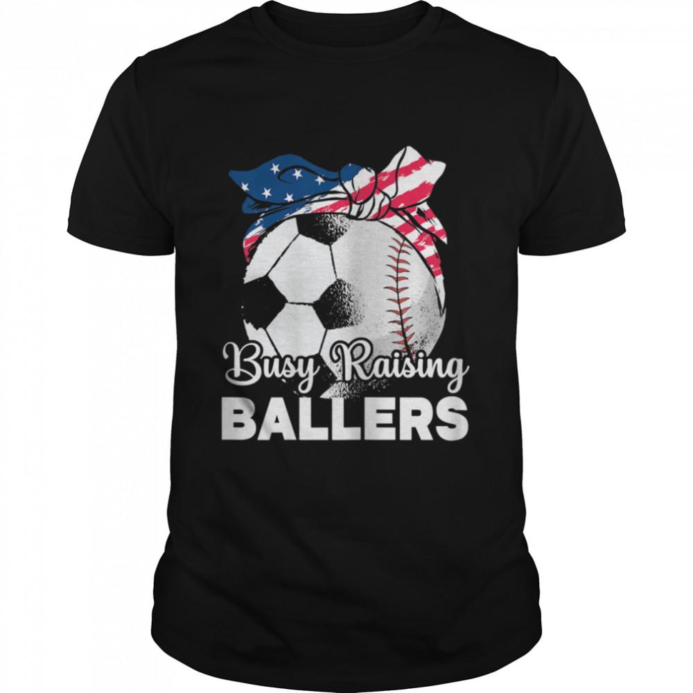Busy Raising Ballers Mothers Day Baseball Sport shirt Classic Men's T-shirt