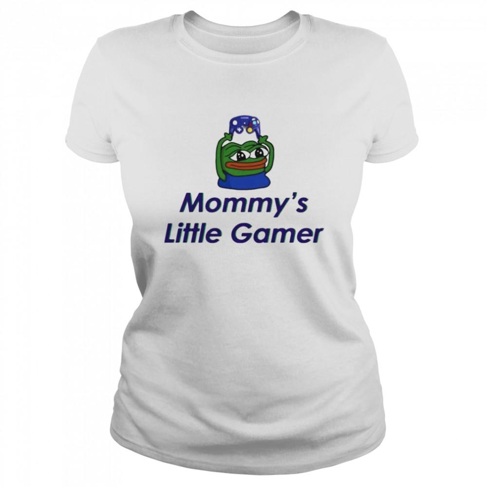 frog pepe mommys little gamer shirt classic womens t shirt