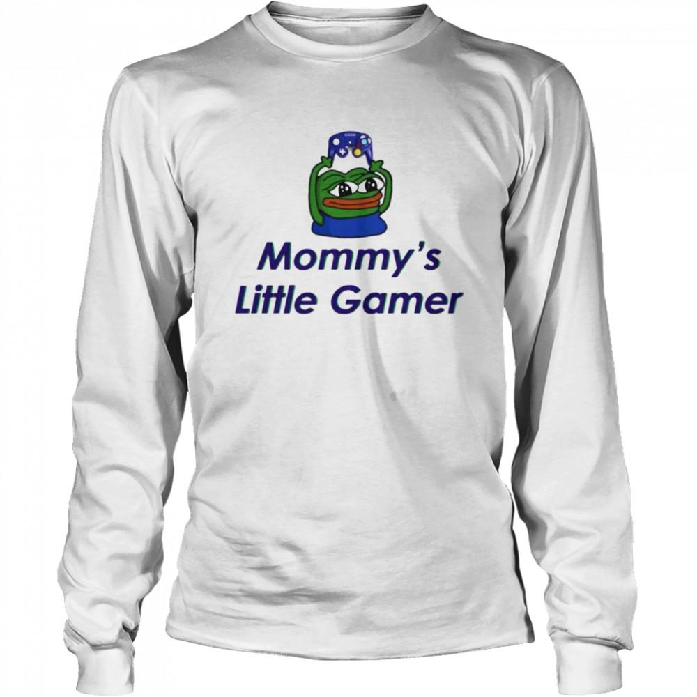 frog pepe mommys little gamer shirt long sleeved t shirt