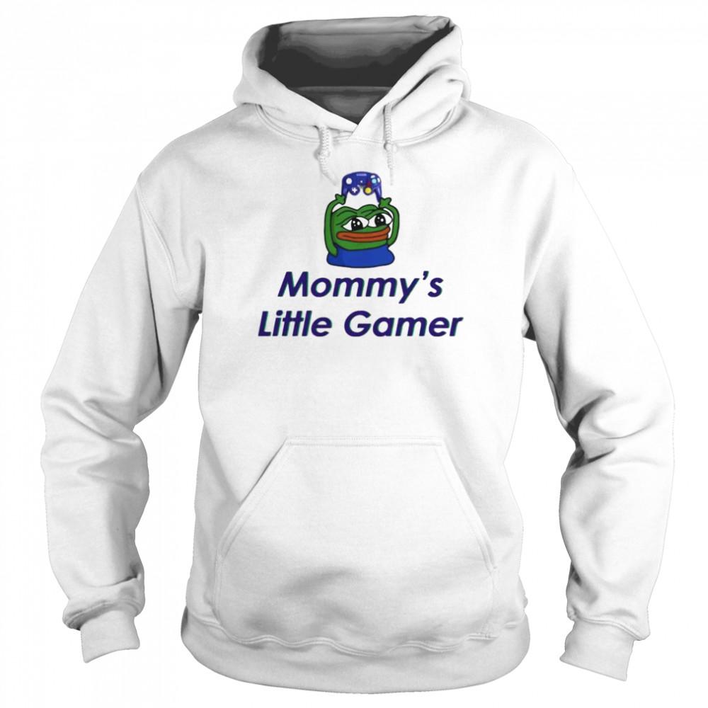 frog pepe mommys little gamer shirt unisex hoodie