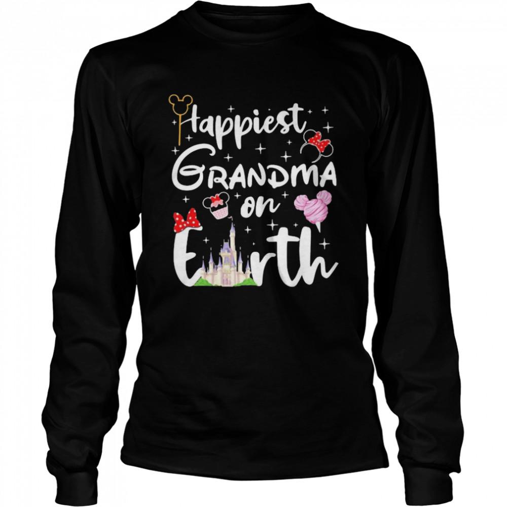 happiest grandma on earth disney  long sleeved t shirt