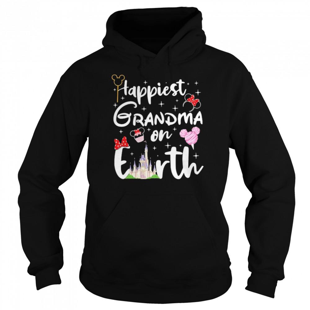 happiest grandma on earth disney  unisex hoodie