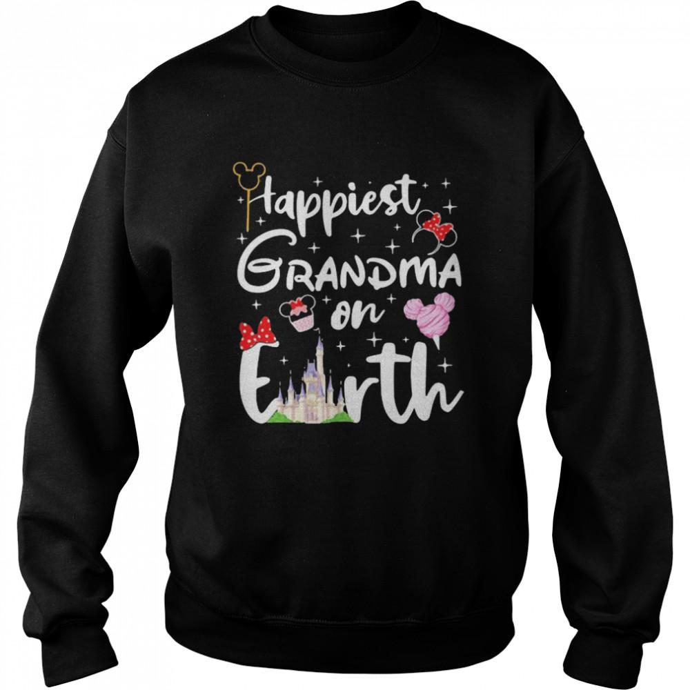 happiest grandma on earth disney  unisex sweatshirt
