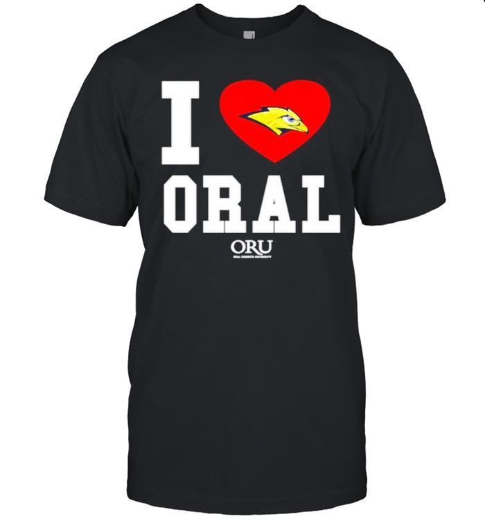 I love Oral Roberts Golden Eagles ORU shirt Classic Men's T-shirt