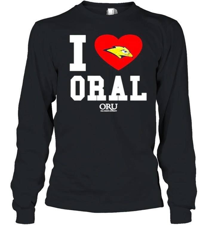 i love oral roberts golden eagles oru shirt long sleeved t shirt