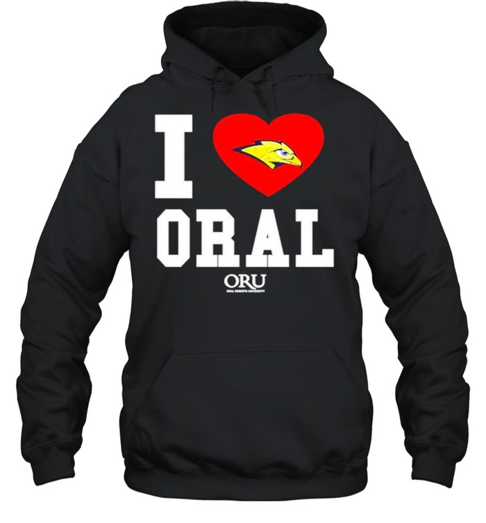 i love oral roberts golden eagles oru shirt unisex hoodie