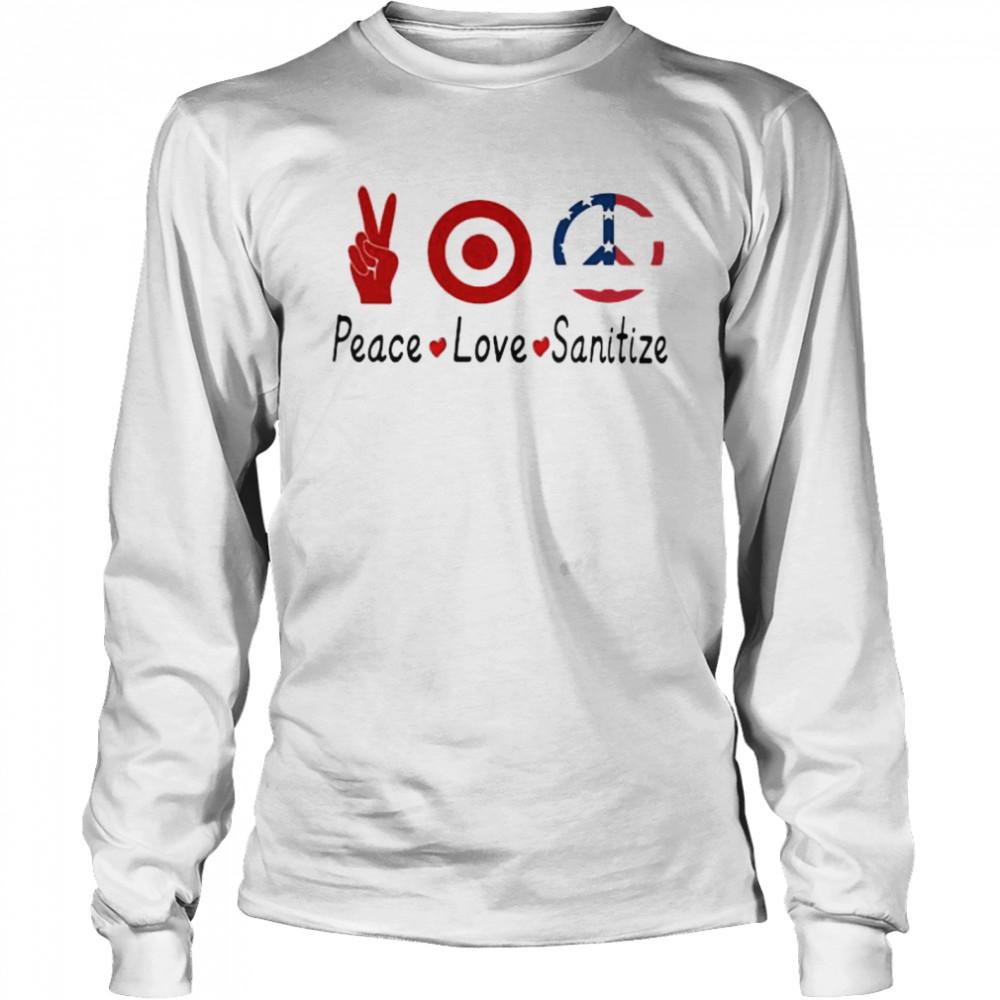 peace love sanitize target  long sleeved t shirt