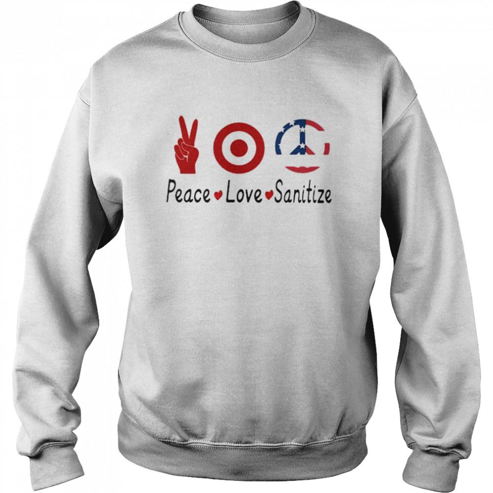 peace love sanitize target  unisex sweatshirt
