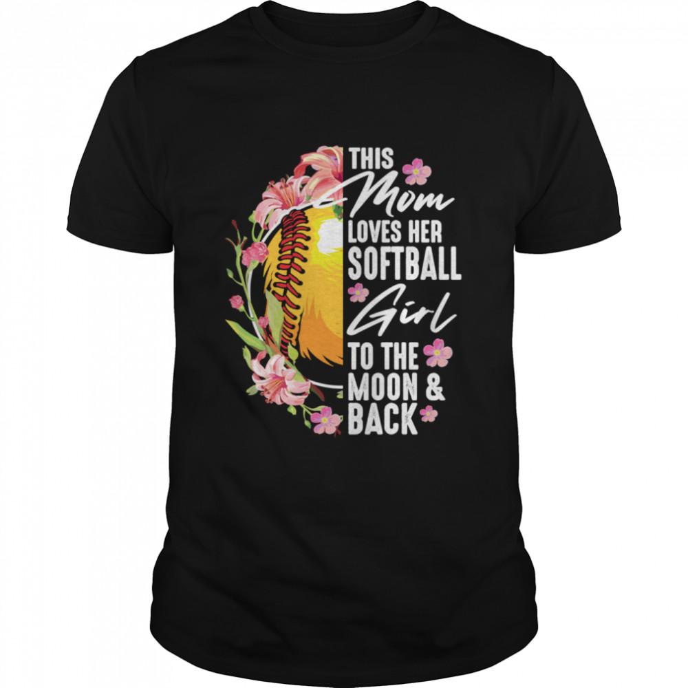 Softball Mom Pitcher Catcher Girlss  Classic Men's T-shirt
