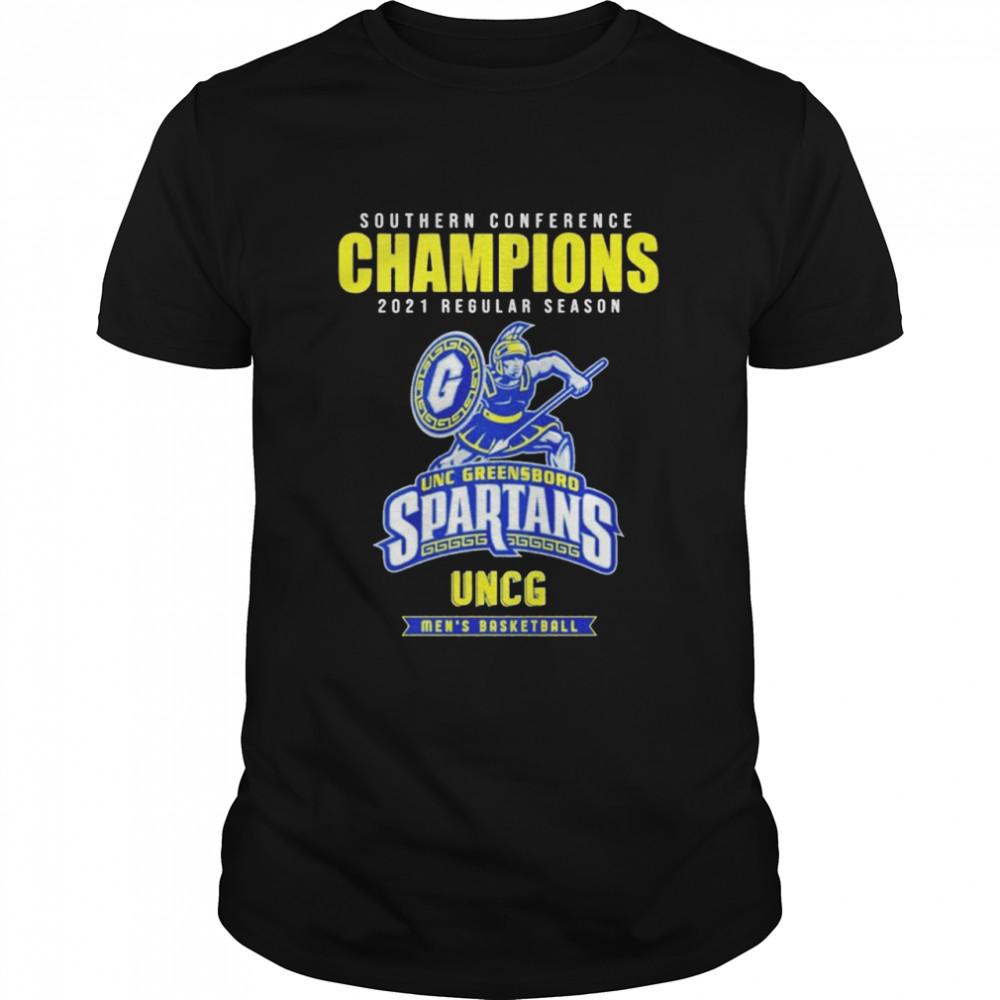 Southern conference champions 2021 regular season UNC Greensboro Spartans men's basketball shirt Classic Men's T-shirt