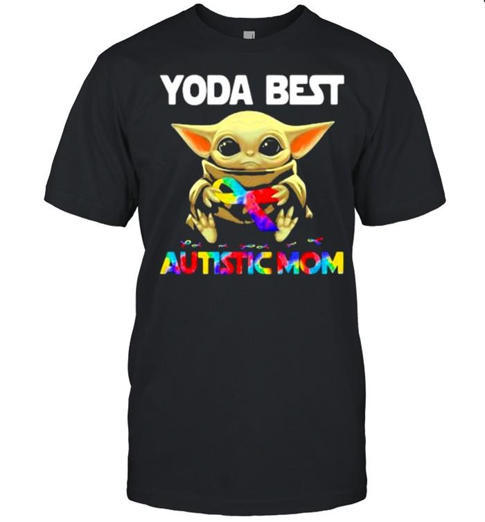 Yoda Best Autistic Mom Ribbon  Classic Men's T-shirt