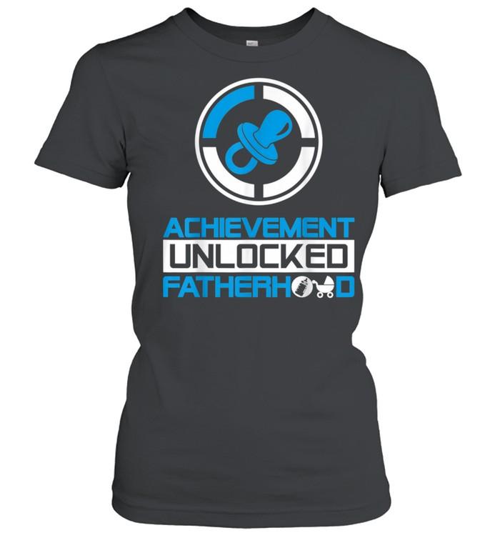 Achievement Unlocked Fatherhood New Dad  Classic Women's T-shirt