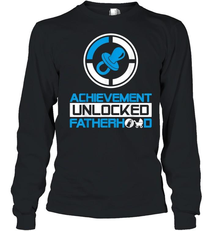 Achievement Unlocked Fatherhood New Dad  Long Sleeved T-shirt