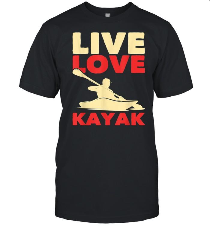 Canoe Paddle Kayaker Kayak Outdoor Kayaking  Classic Men's T-shirt