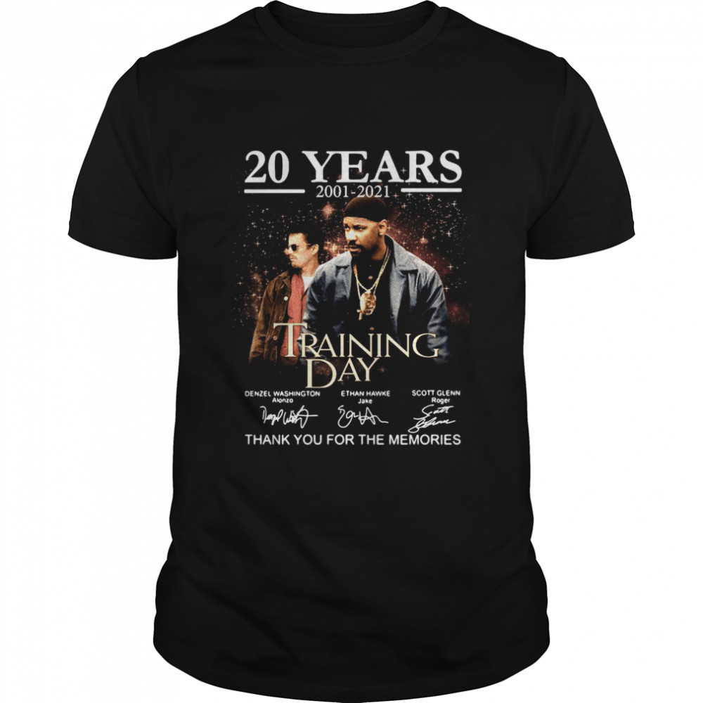 20 years 2001 2021 Training Day thank you for the memories signatures shirt Classic Men's T-shirt