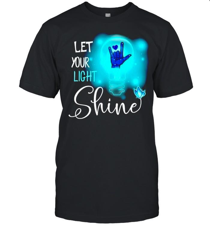 Sign Language let your light shine shirt Classic Men's T-shirt