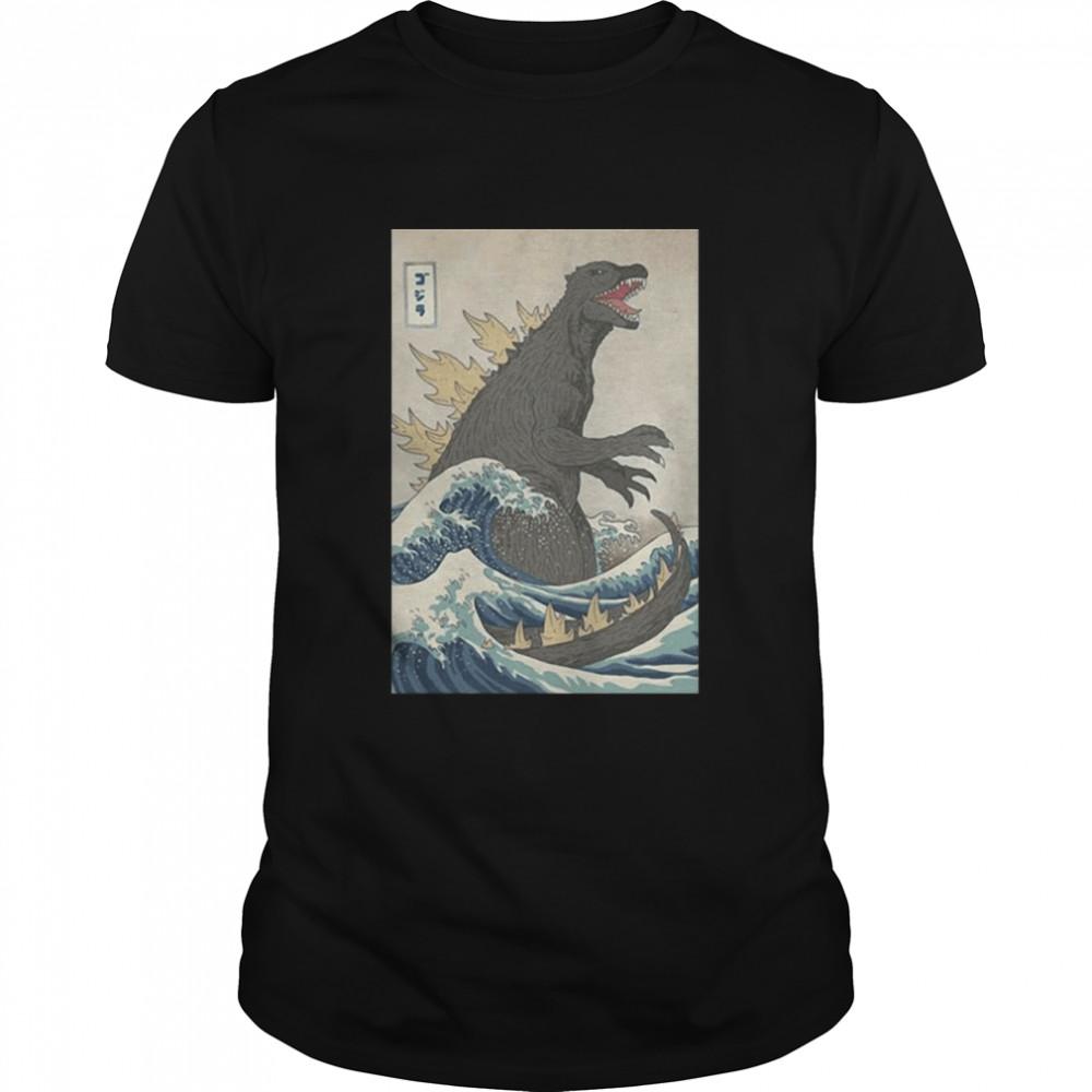 The Great Godzilla Off Kanagawa Godzilla shirt Classic Men's T-shirt