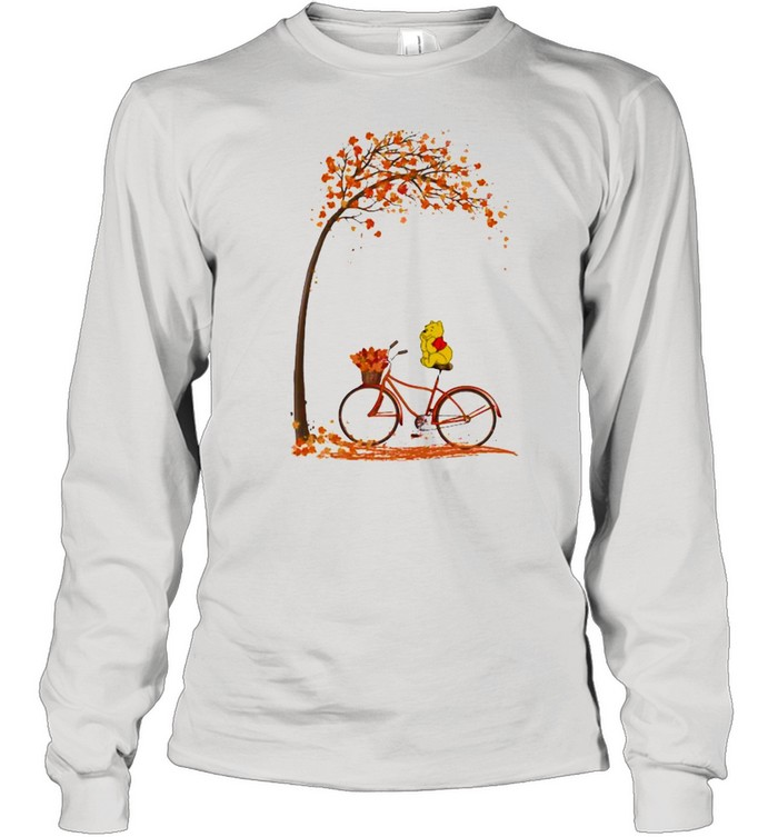 autumn pooh bicycle  long sleeved t shirt