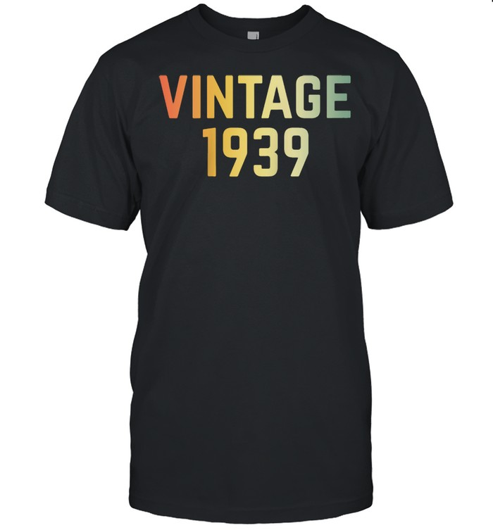 Vintage 1939 82nd Birthday Retro 82 Years shirt Classic Men's T-shirt