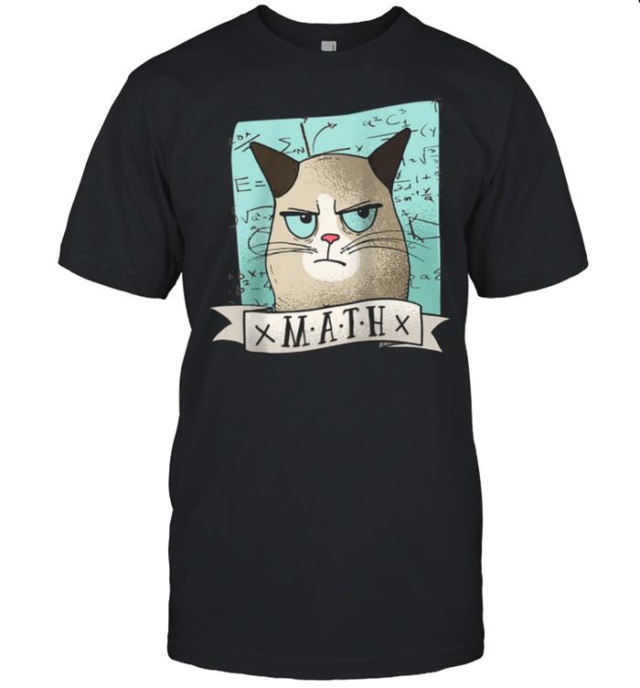 I Love My Grumpy Cat And Math shirt Classic Men's T-shirt