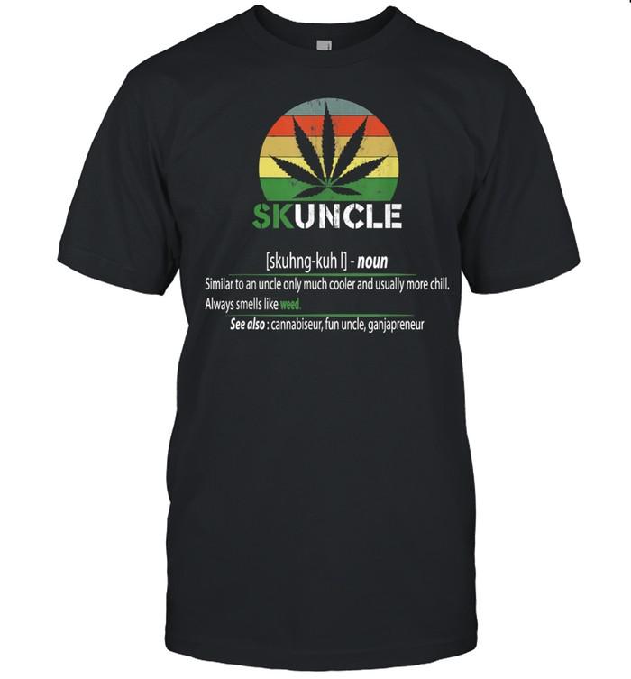 Skunkle Skuncle Uncle Cannabis Vintage  Classic Men's T-shirt