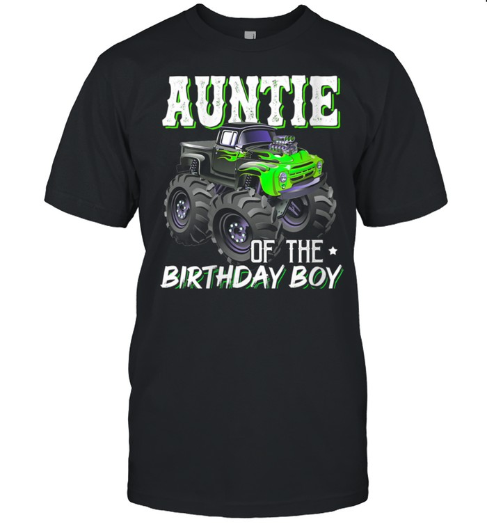 Auntie Of The Birthday Boy Monster Birthday Mothers Day shirt Classic Men's T-shirt