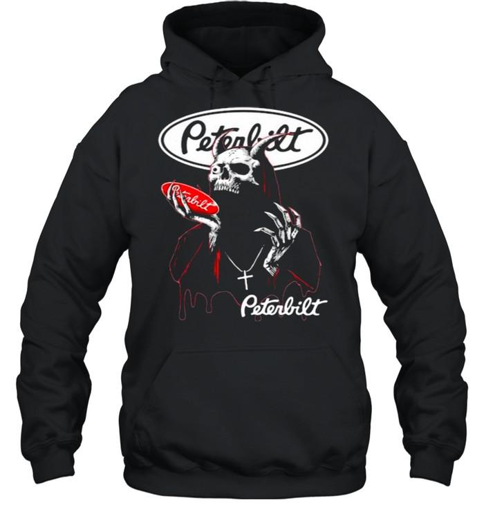 skull hold peterbilt logo  unisex hoodie