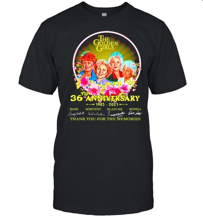 The Golden Girls 36th Anniversary 1985 2021 thank you for the memories shirt Classic Men's T-shirt