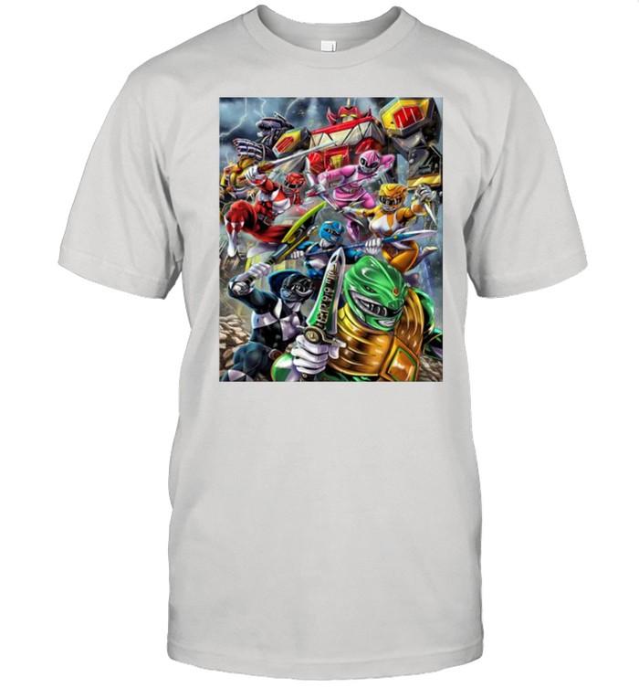 Mighy Morphin Power Rangers Original Custom  Classic Men's T-shirt