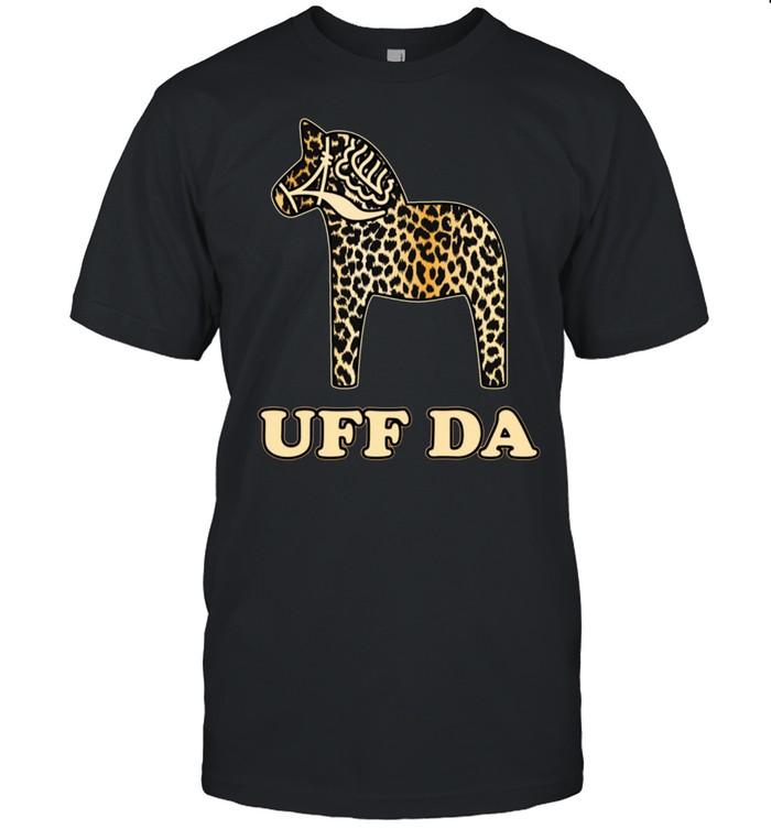 Uff Da Leopard Cheetah Dala Horse Dalecarlian Horse Nordic shirt Classic Men's T-shirt