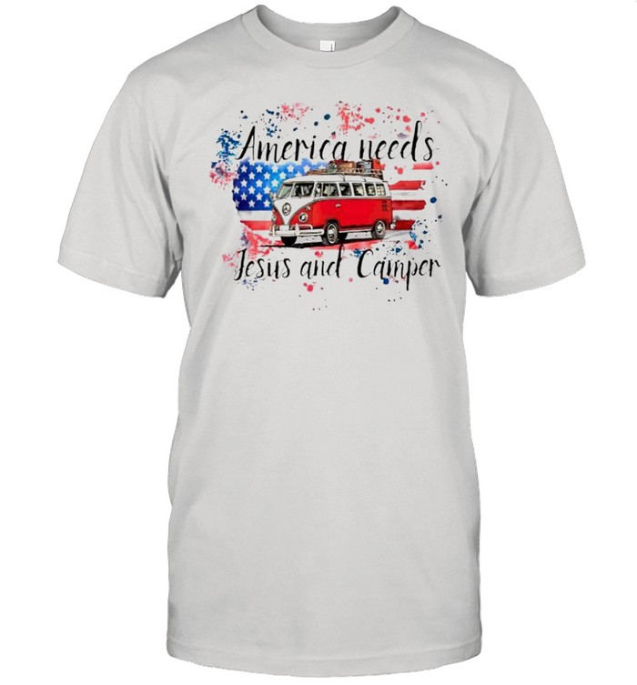 America needs Jesus and camper shirt Classic Men's T-shirt