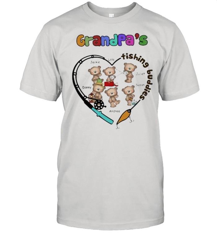 Grandpa's Fishing Buddies Bear  Classic Men's T-shirt