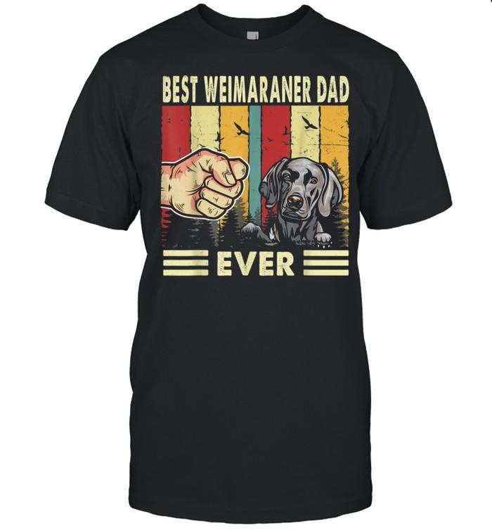 Best Weimaraner Dog Dad Ever Retro Fathers Day shirt Classic Men's T-shirt
