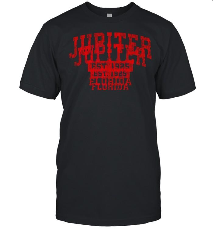 Jupiter Florida FL Vintage Sports Design Red Design shirt Classic Men's T-shirt