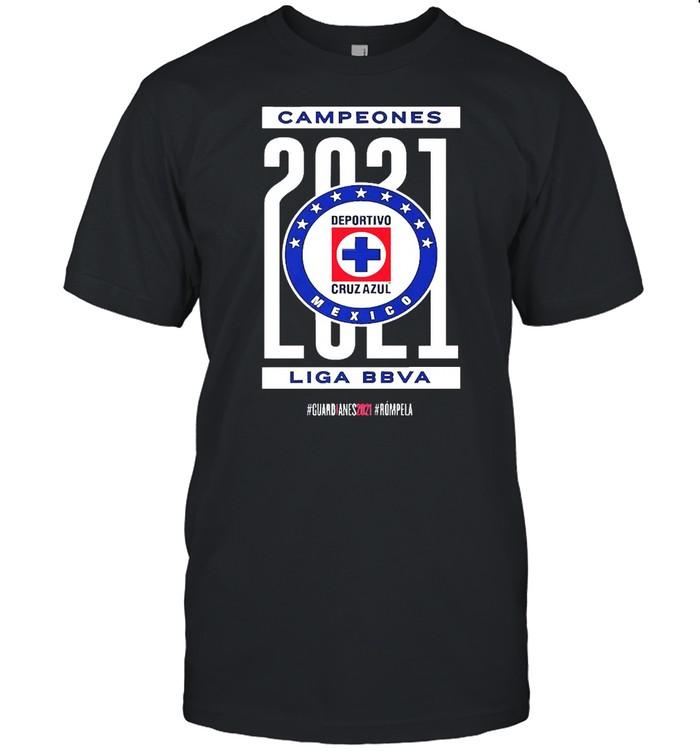 Campeones 2021 Deportivo Cruz Azul Mexico Liga BBVA  Classic Men's T-shirt